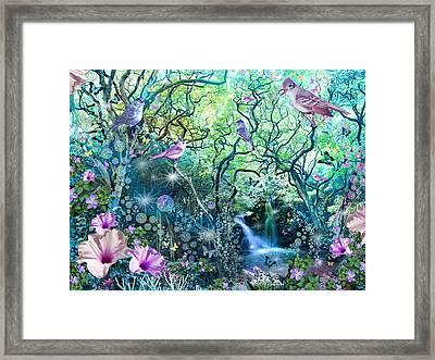 Swirly Tree Garden Framed Print by Alixandra Mullins