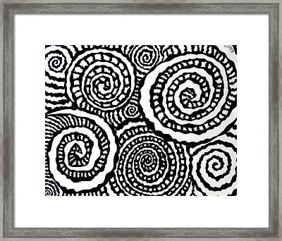 Swirly Twirly 2 Framed Print by Ryan Ashley Hornbuckle