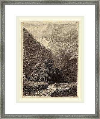Swiss 19th Century, Mountainous Landscape Framed Print by Litz Collection
