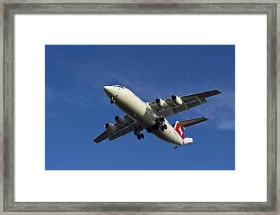 Swiss Air Bae 146 Framed Print