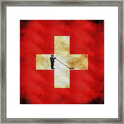 Swiss Alpine Framed Print by Jared Johnson