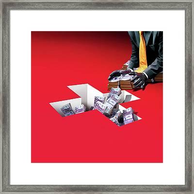 Swiss Banking Framed Print by Smetek
