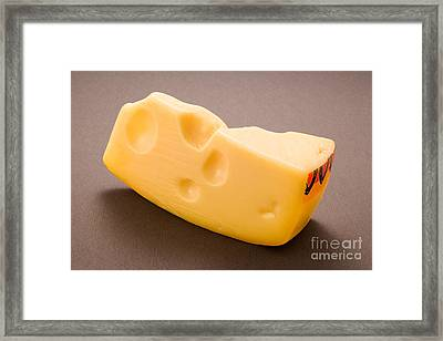 Swiss Cheese Framed Print by Danny Smythe