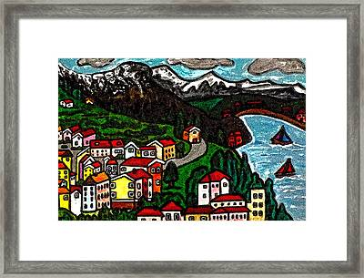 Swiss Country Framed Print by Monica Engeler