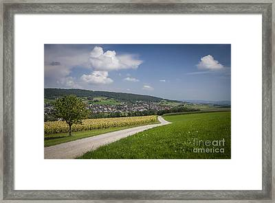 Swiss Country Road Framed Print by Ning Mosberger-Tang