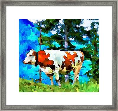 Swiss Cow Framed Print