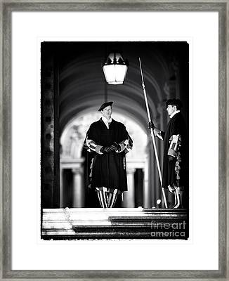 Swiss Guards Framed Print by John Rizzuto