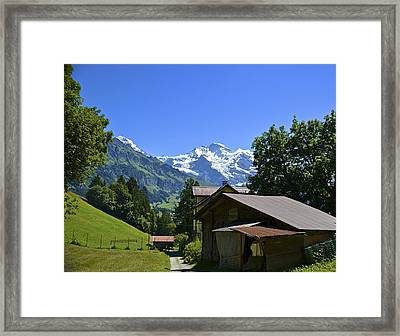 Swiss Hike Framed Print by Marty  Cobcroft