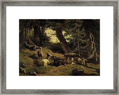 Swiss Landscape, Gerard Bilders Framed Print by Litz Collection