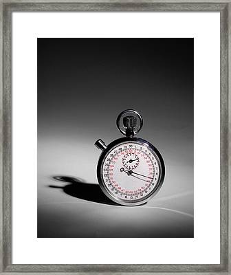 Swiss Made Stop Watch Framed Print by David and Carol Kelly