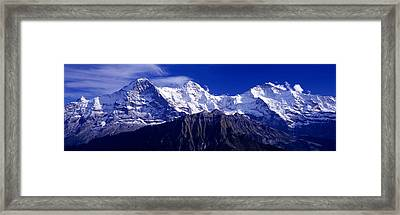 Swiss Mountains, Berner, Oberland Framed Print by Panoramic Images