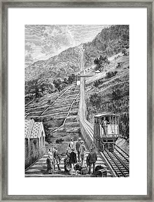 Swiss Rack-and-pinion Railway Framed Print
