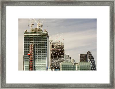 Swiss Re Tower Framed Print by Ashley Cooper