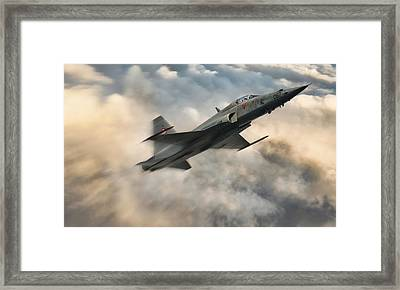Swiss Tiger Framed Print by Peter Chilelli