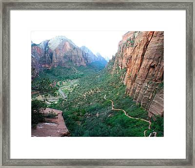 Framed Print featuring the photograph Switch-backs by Jon Emery