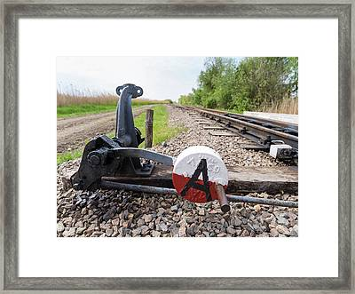 Switch Of The Local Railway At The Fish Framed Print
