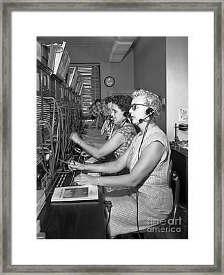 Switchboard Operators Framed Print