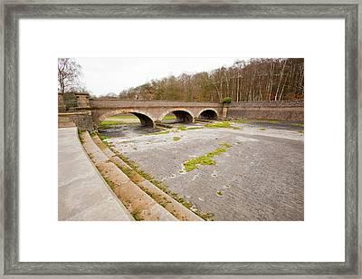 Swithland Reservoir Overflow Framed Print