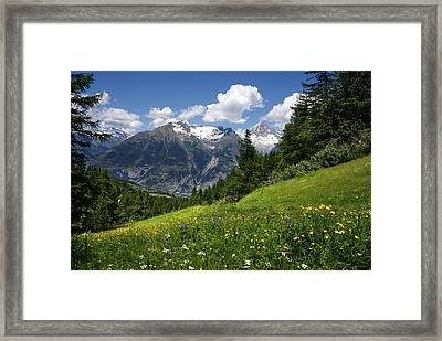 Switzerland Bietschhorn Framed Print