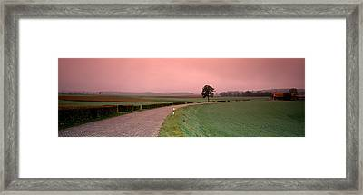 Switzerland, Country Road Framed Print by Panoramic Images