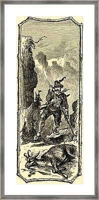Switzerland Engraving 19 C Framed Print