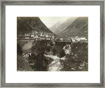 Switzerland Goschenen Framed Print by Granger