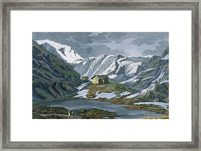 Switzerland Hospice Of St. Bernard Framed Print by Italian School