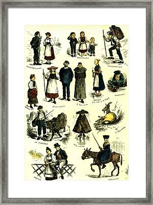 Switzerland Swiss Folk In 1883 Framed Print by Swiss School