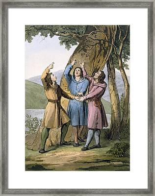Switzerland The Three Leaders Framed Print by Gallo Gallina