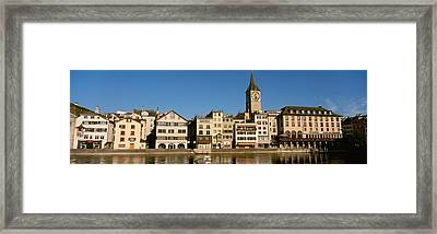 Switzerland, Zurich, Buildings Framed Print by Panoramic Images