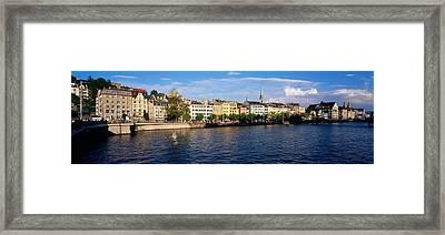 Switzerland, Zurich, Limmat River Framed Print