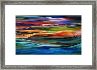 Swooping Under Candy Skies Framed Print by Kyle Wood