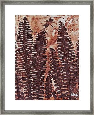 Sword Fern Fossil Framed Print