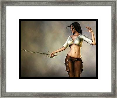 Sword Girl Framed Print
