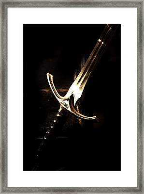 Sword Of Gandalf Framed Print by Christopher Gaston