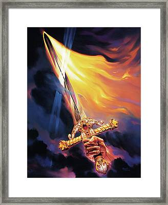Sword Of The Spirit Framed Print by Jeff Haynie