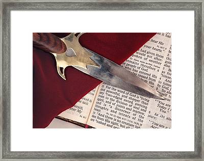 Sword Of The Spirit Framed Print by Pattie Calfy
