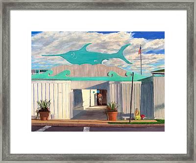 Swordfish Beach Club Framed Print