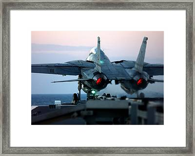 Swordsmen Launch Framed Print by Peter Chilelli