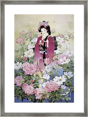 Syakuyaku Framed Print by Haruyo Morita