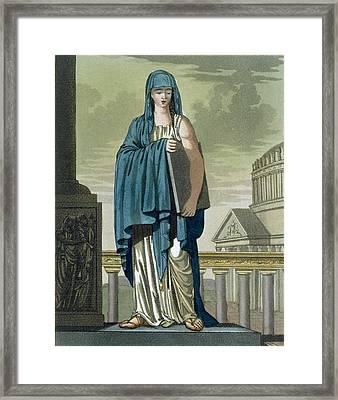 Sybil, Illustration From Lantique Rome Framed Print