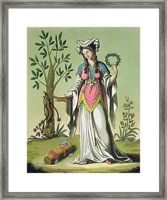 Sybil Of Delphi, No. 15 From Antique Framed Print by Jacques Grasset de Saint-Sauveur