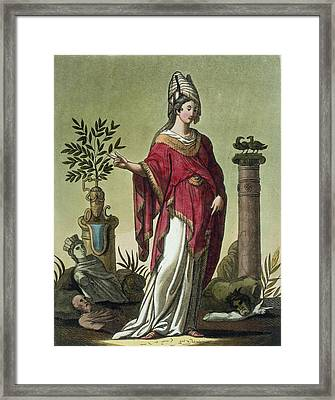 Sybil Of Eritrea With Her Insignia, 1796 Framed Print by Jacques Grasset de Saint-Sauveur