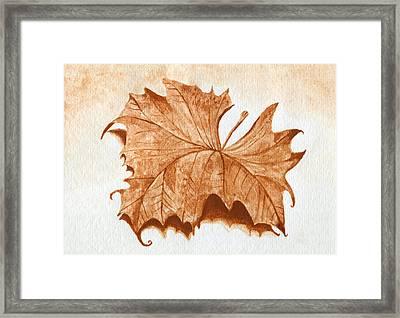 Sycamore #1 Oklahoma Red Dirt Artwork Tm Framed Print by Tanya Provines
