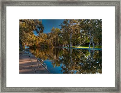 Sycamore Pool 2 Bidwell Park Framed Print by Tom Barrett