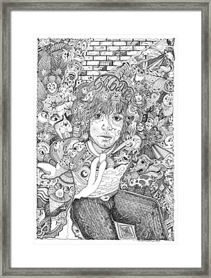 Syd Barrett Mr Floyd Framed Print by Lance Graves