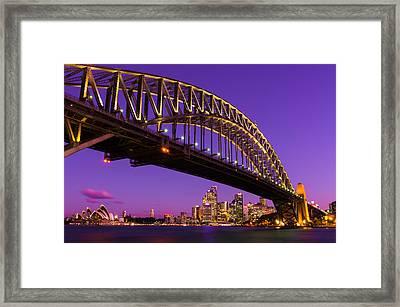 Sydney At Night Framed Print