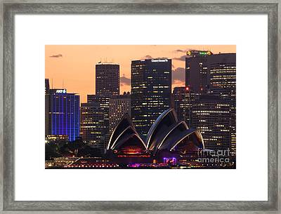 Sydney At Sunset Framed Print by Matteo Colombo