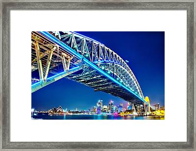 Sydney Blues Framed Print by Az Jackson
