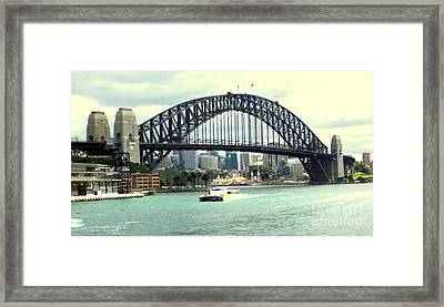 Sydney Bridge Framed Print by John Potts